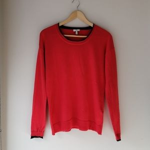 Joie tomato red cashmere & wool blend sweater